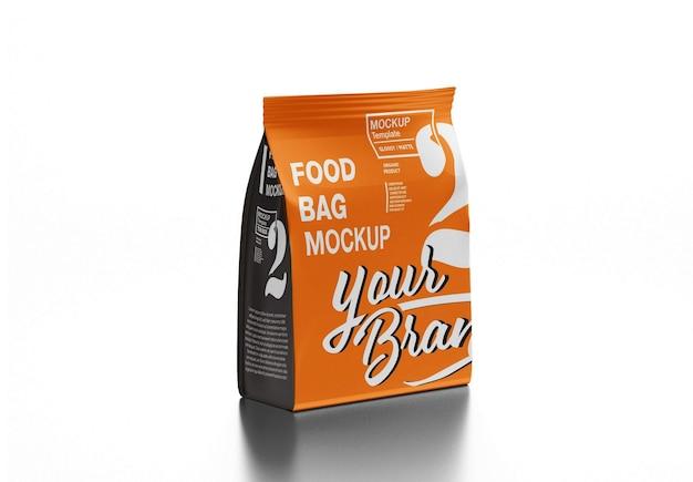 Design de maquete de saco de café de plástico