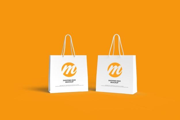 Design de maquete de sacola de compras ou pager