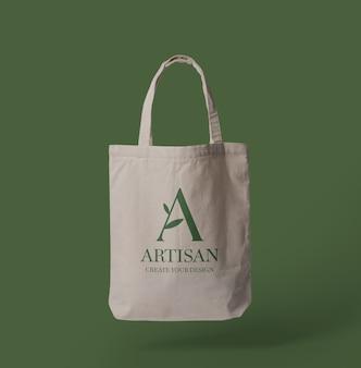 Design de maquete de sacola de lona