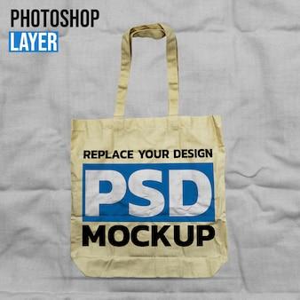 Design de maquete de sacola