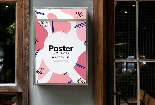 Design de maquete de sinalização de restaurante colorido