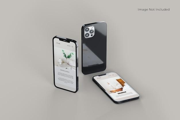 Design de maquete de smartphone em tela cheia