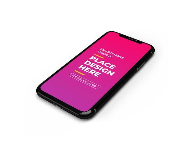 Design de maquete de smartphone moderno isolado