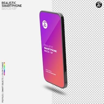 Design de maquete de smartphone preto