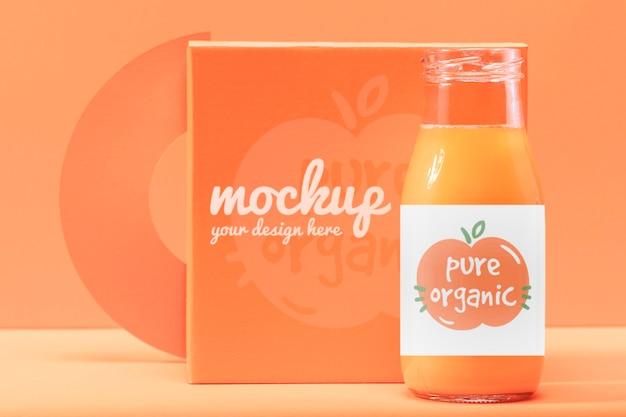 Design de maquete de smoothie de laranja