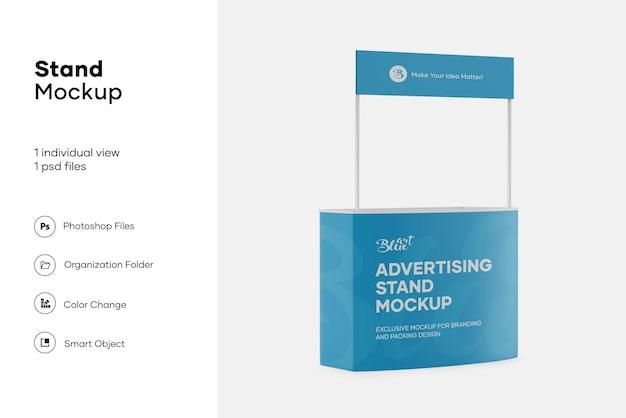 Design de maquete de stand de publicidade