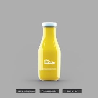 Design de maquete de suco de suco de garrafa isolado
