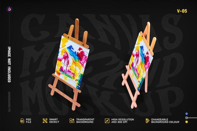 Design de maquete de suporte de tela de artista editável
