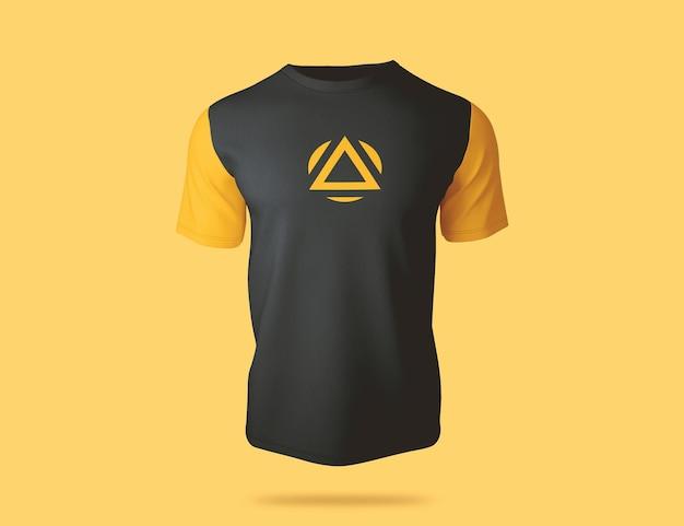 Design de maquete de t-shirt colorida de luxo