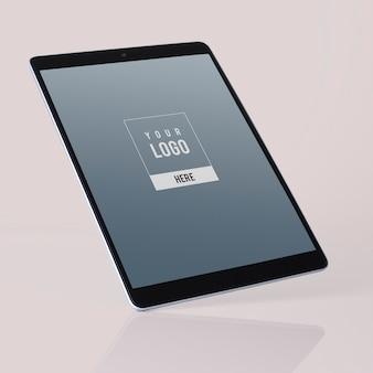Design de maquete de tablet de tela cheia