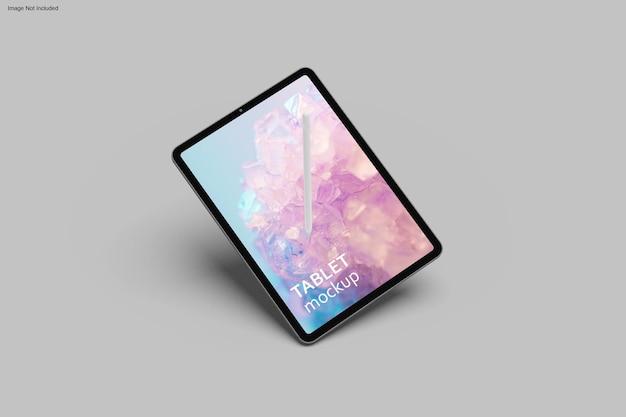 Design de maquete de tablet em renderização 3d