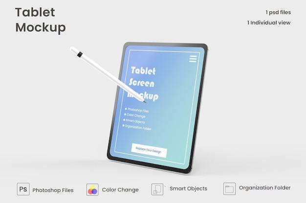 Design de maquete de tablet em tela cheia premium psd