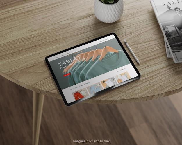Design de maquete de tablet em tela inteira