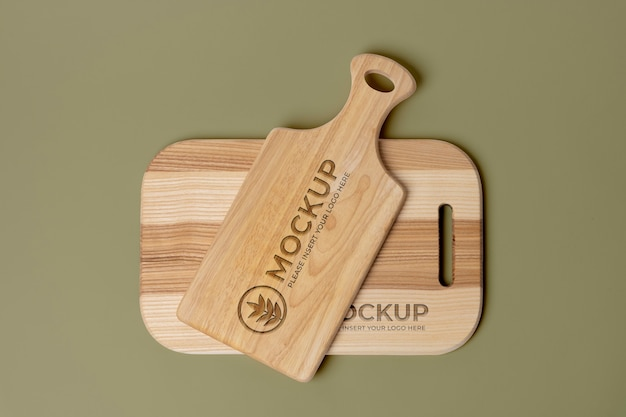 Design de maquete de tábua de madeira