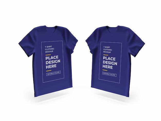 Design de maquete de tecido de camiseta isolado