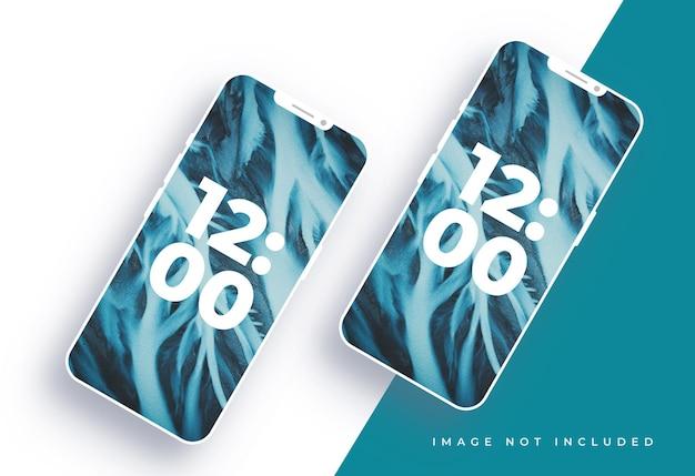 Design de maquete de tela branca limpa do smartphone
