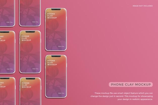 Design de maquete de tela de smartphone