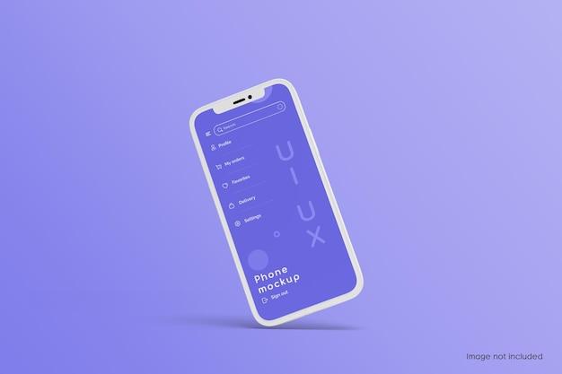 Design de maquete de tela de telefone celular