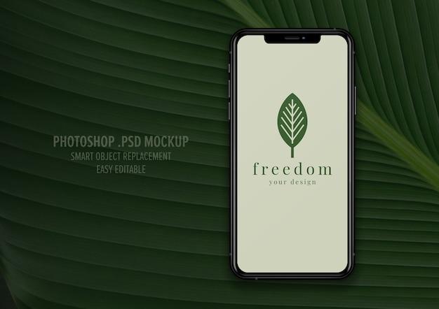 Design de maquete de tela do telefone