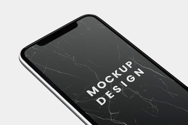 Design de maquete de tela preta smartphone