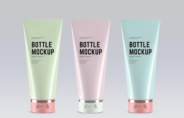 Design de maquete de tubos cosméticos
