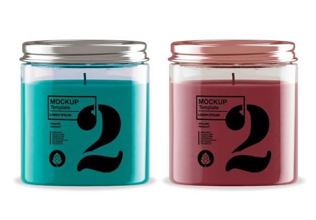 Design de maquete de vela de lata isolado