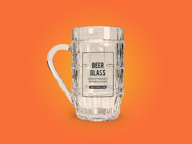 Design de maquete de vidro de cerveja