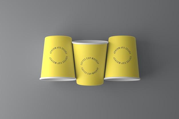 Design de maquete de xícara de café em renderização 3d
