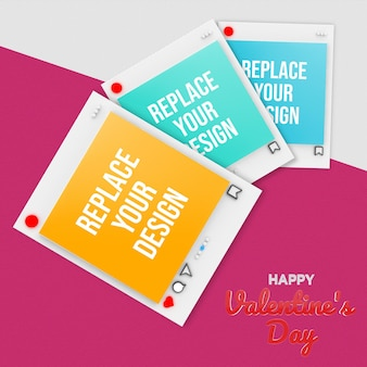 Design de maquete do dia dos namorados