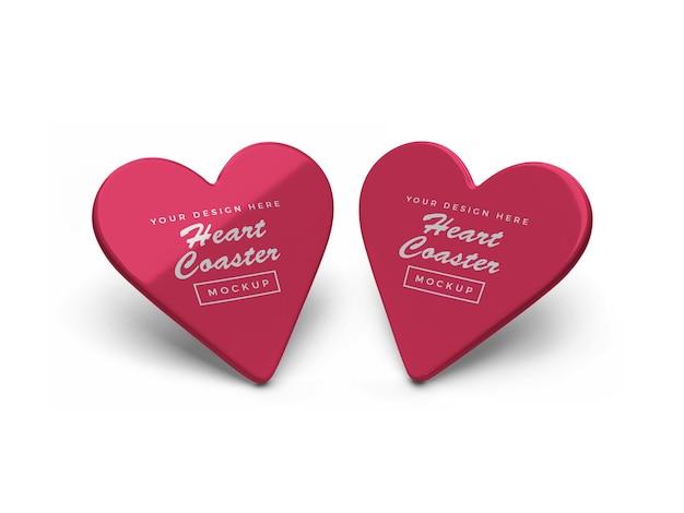 Design de maquete do valentine heart coaster