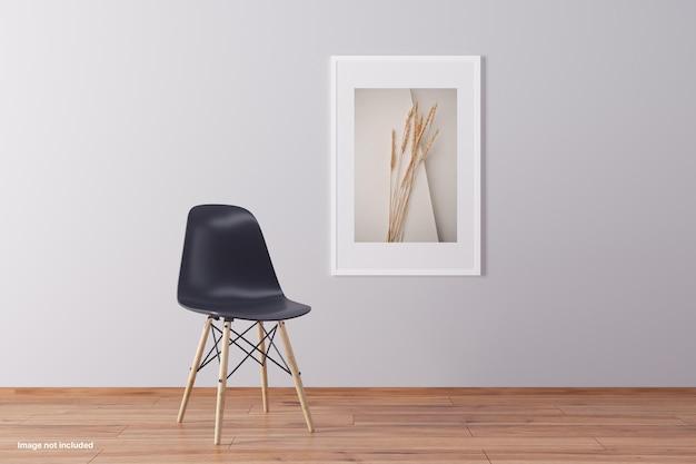 Design de maquete minimalista isolado