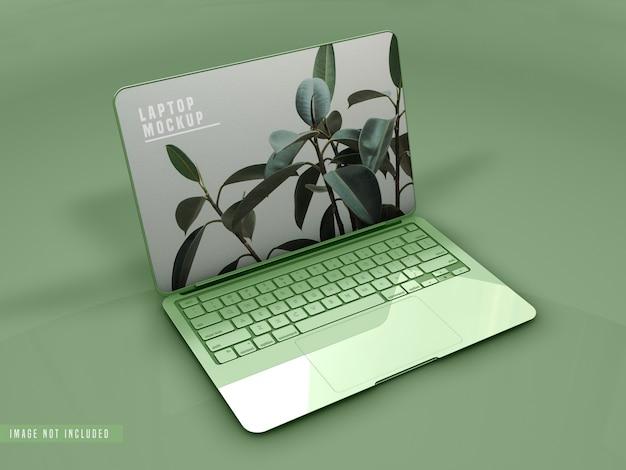 Design de maquete para laptop