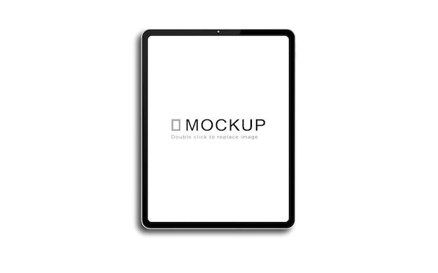 Design de maquete para tablet em tela cheia