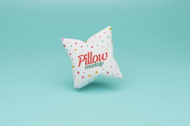 Design de maquete quadrada de travesseiro