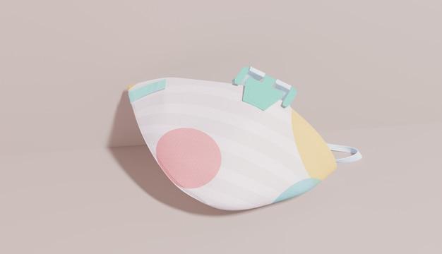 Design de máscara de proteção com pontos