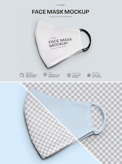 Design de máscara facial de maquete