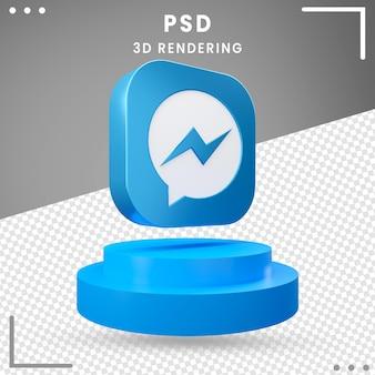 Design de mensageiro com ícone girado 3d