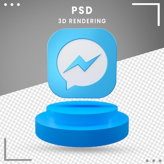Design de mensageiro de ícone de logotipo girado 3d