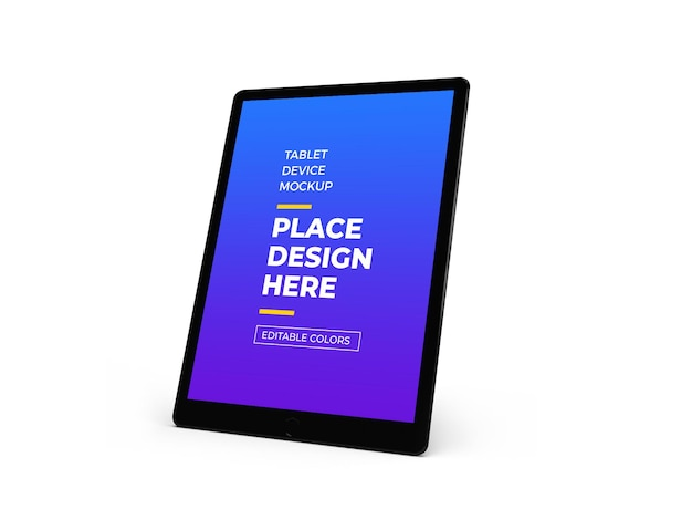 Design de mockup 3d do dispositivo tablet