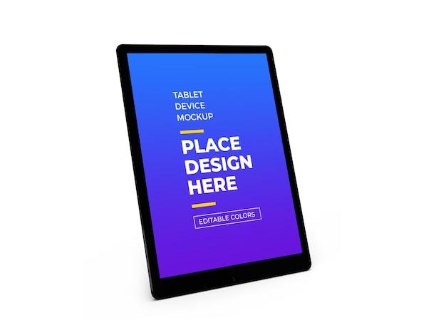 Design de mockup 3d do dispositivo tablet