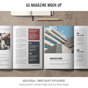 Design de mockup da revista a5