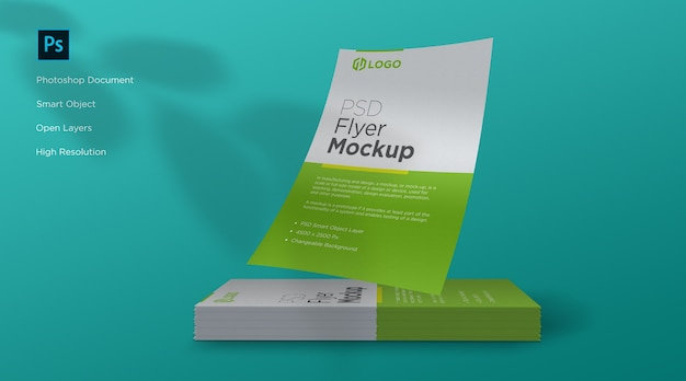 Design de mockup de panfleto e pôster