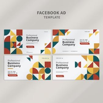 Design de modelo de anúncio comercial do facebook