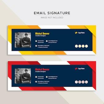 Design de modelo de assinatura de e-mail comercial