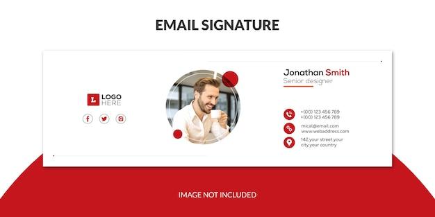 Design de modelo de assinatura de e-mail corporativo ou rodapé de e-mail