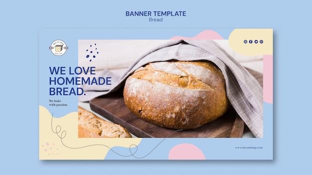 Design de modelo de banner com pão