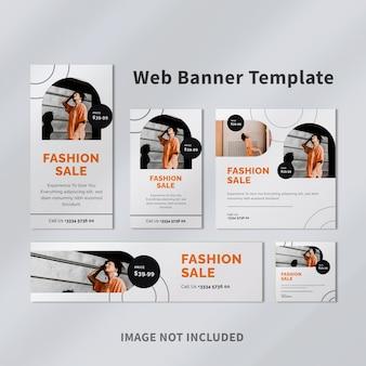 Design de modelo de banner de anúncio do google fashion