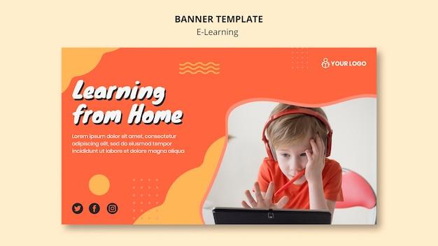 Design de modelo de banner de aprendizagem e