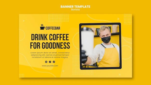 Design de modelo de banner de barista