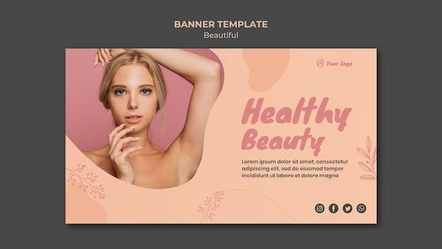 Design de modelo de banner de beleza